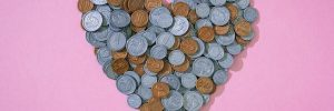 A heart of pennies, illustrating Corporate Social Responsibility (CSR)
