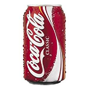 Photo of the Coca-Cola Classic can.