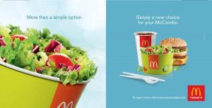 MacDonalds advertisement showing a healthy menu choice.