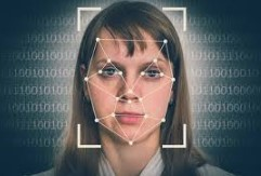 Image of a female face against a digital background with AutoCAD lines and dots indicating facial features to be captured.